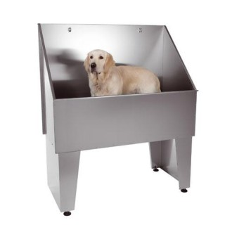 Baño peluqueria canina movil, bañera inoxidable